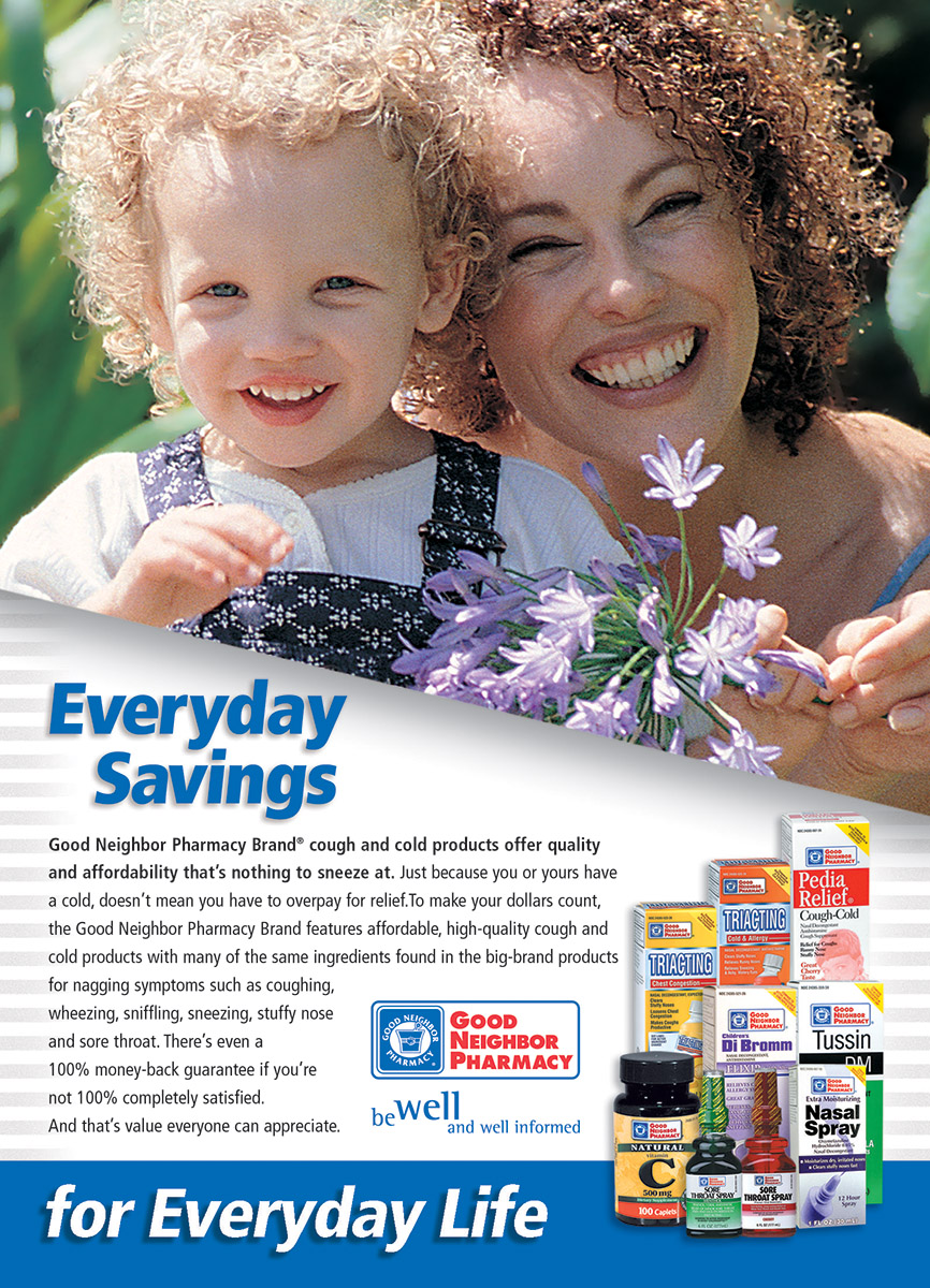 Good Neighbor Pharmacy Store Brands - Full Page Ad