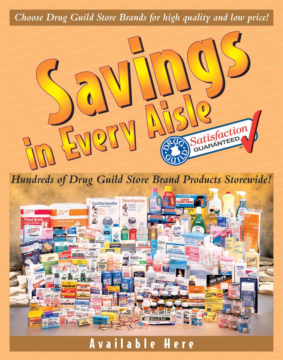 Drug Guild Store Brands - Poster
