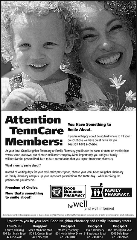 Good Neighbor Pharmacy - Small Space Newspaper Ad