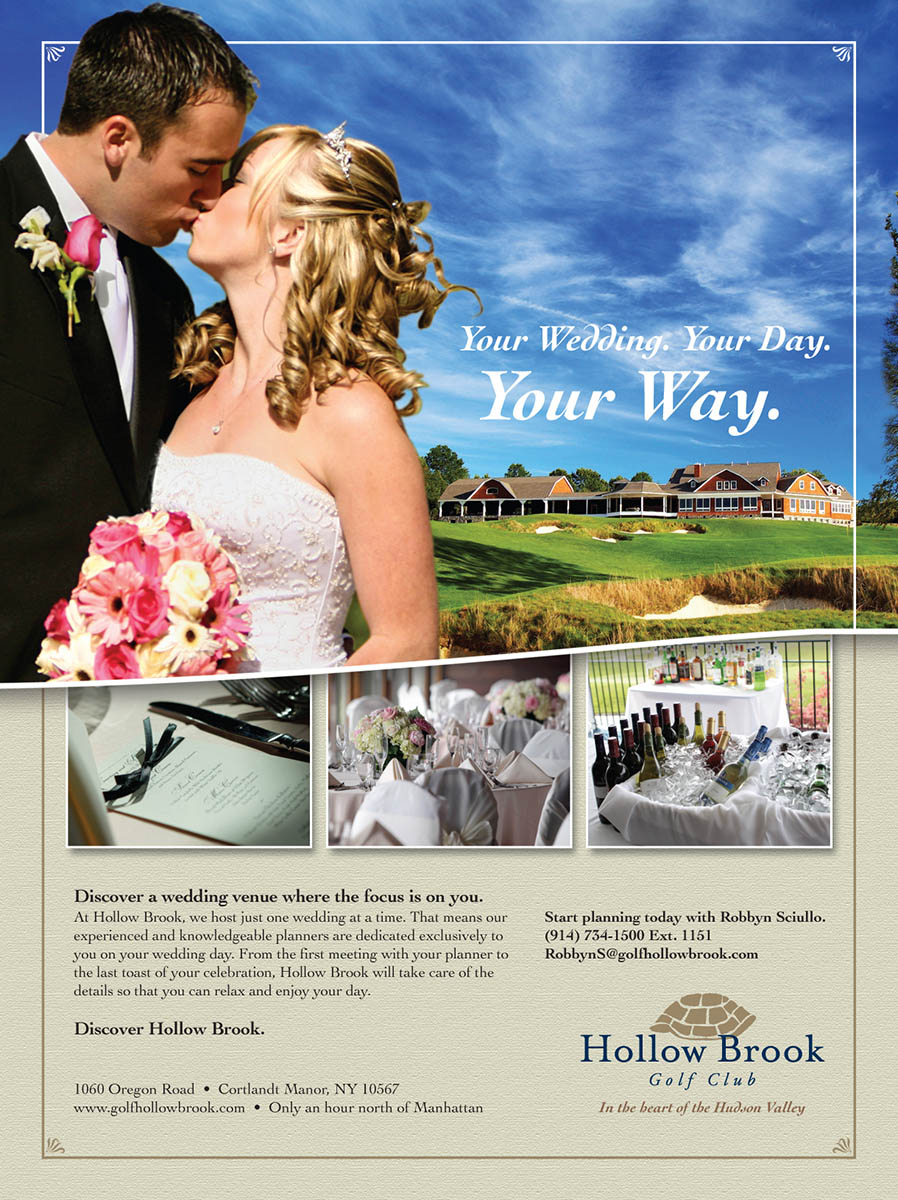Hollow Brook Golf Club / Catering - Full Page Ad